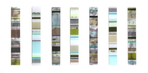 Sculptures by Marcia Stuermer/Stuermer Studios seen at Private Residence, San Francisco - Litmus Barcodes Wall Sculpture