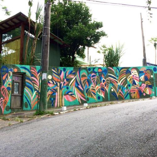 Street Murals by Thiago Thipan at AA Arca de Arte, Lagoa da Conceição - Tropical Summer Garden
