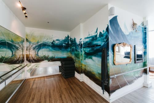 Murals by Leo Shallat seen at Bohemian Studios — West Seattle, Seattle - Emergence Northwest | Interior Mural Installation
