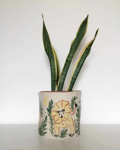 Ceramic Plates by Cheltsoviii seen at Private Residence - Flower Pot