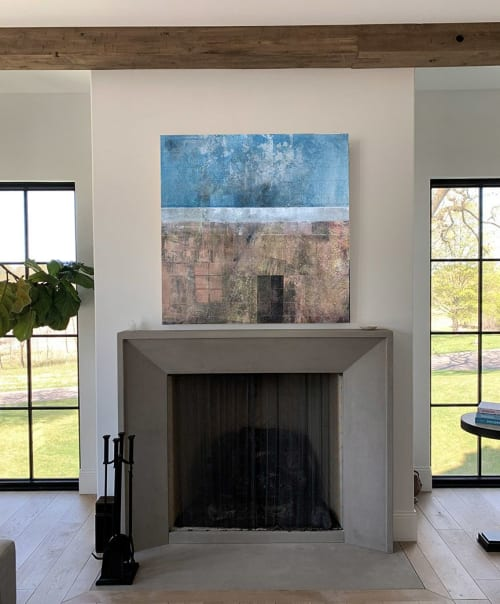 Paintings by Mike  Murray seen at Private Residence, Orono - Silver and Gold