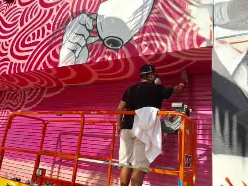 Street Murals by Jorge-Miguel Rodriguez at JOE & THE JUICE, Miami - Joe & The Juice
