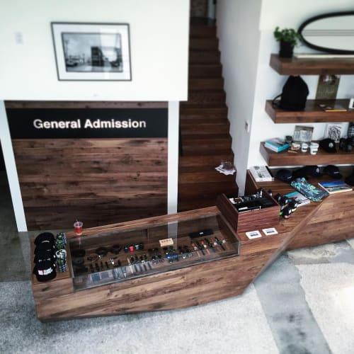 Furniture by Maneuver Works seen at General Admission, Los Angeles - Custom Furniture