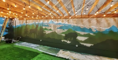 Murals by Liesl • Design Paint Mural seen at Squamish, Squamish - Negative space landscape mural