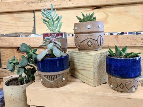 Vases & Vessels by Round Trip Clayworks seen at Providence Flea, Providence - Planters