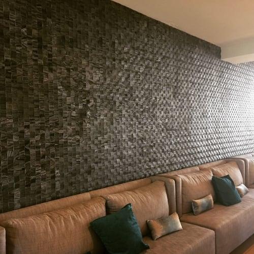 "Interior Design by Island Stone seen at Santa Cruz, Santa Cruz - ""Newwave Pattern in Silver Quartzite"""