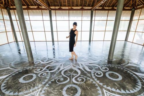 Murals by Urbanheart seen at Orion Healing, ตำบลเกาะพะงัน - Yoga Shala Floor Mandala Mural