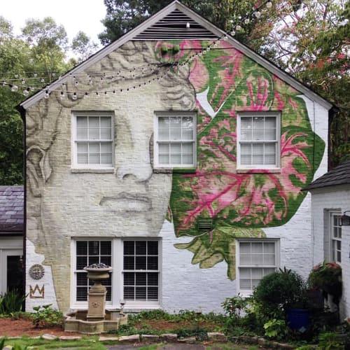 Murals by JOEKINGATL seen at Private Residence, Atlanta - Ansley Mural