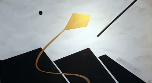 Paintings by Mod Cardenas seen at Private Residence - Custom painting, collector´s home
