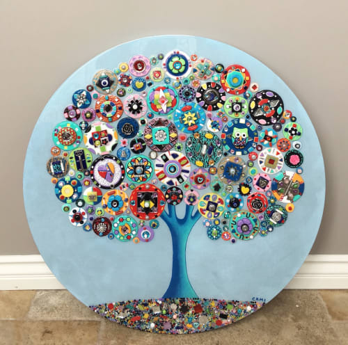"""Art & Wall Decor by Cami Levin seen at Private Residence, Riverside - """"Merry Go Round"""" - Tree of Love"""