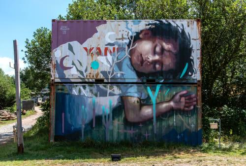 Street Murals by Guido Palmadessa seen at Hamburg, Hamburg - Migrant Dream