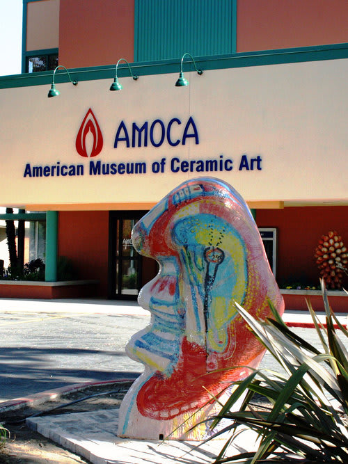 Sculptures by Cybele Rowe seen at American Museum of Ceramic Art, Pomona - Curvalutions