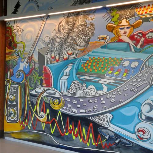 Paintings by Paul Santoleri seen at Cirrus Logic, Austin - AUSTIN  headquarters , CIRRUS LOGIC