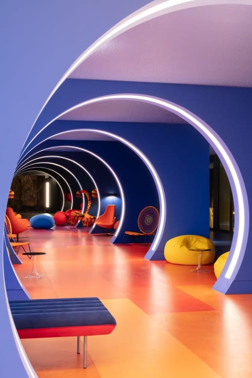 Benches & Ottomans by Emanuele Magini seen at Hotel nhow Marseille, Marseille - Blow