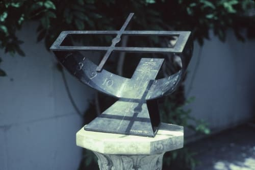 Public Sculptures by Robert Adzema seen at Armonk, Armonk - Equatorial Sundial with Analemma