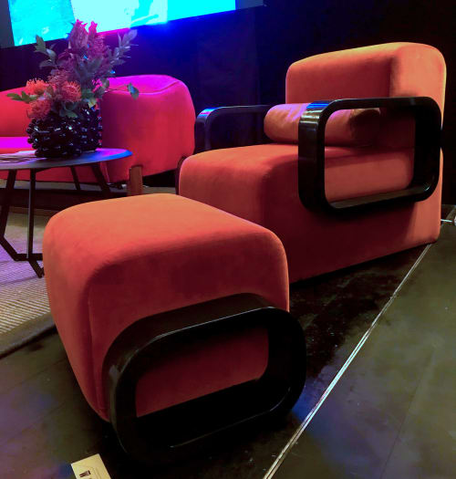 Benches & Ottomans by Marie Burgos Design at Independent Lodging Congress, in the William Vale NYC, Brooklyn - Cayenne Ottoman
