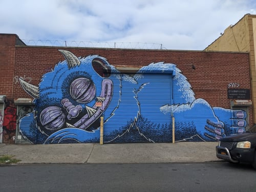 Street Murals by Subway Doodle seen at 361 Troutman St, Brooklyn - SWD Mural