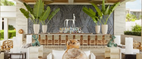 Lamps by Ron Dier Design seen at Four Seasons Resort and Residences Anguilla, West End - Selenite Torchiere