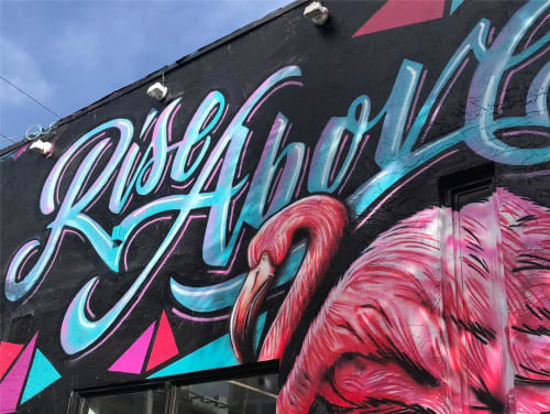 Murals by Rudy Mage at DJI Wynwood, Miami - Rise Above