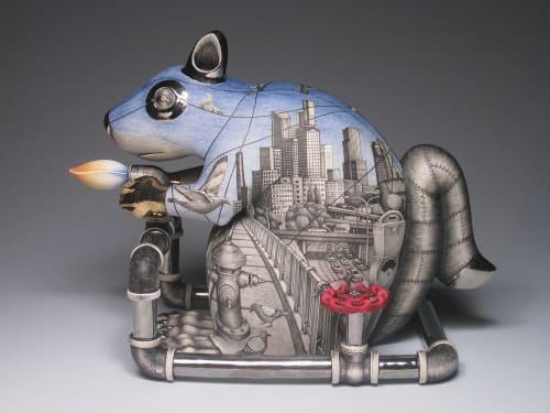 Sculptures by Jason Walker seen at Private Collection - City Animal: We Burn Things, That's What We Do