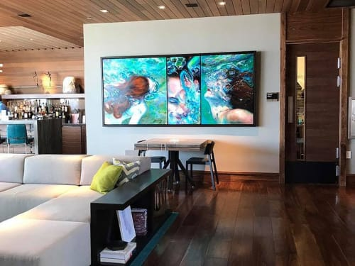 Paintings by Jennifer Hannaford Fine Art seen at The Ritz-Carlton, Lake Tahoe, Truckee - Ritz-Carlton Triptych