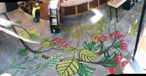 Murals by Natalie Hinahara seen at Schuby's Neighborhood Butcher, La Crosse - Floor mural