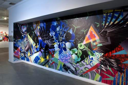 """Public Art by Peter D. Gerakaris Studio seen at Cornell Tech, New York - """"Tropicália"""" - Installation at Cornell Tech"""