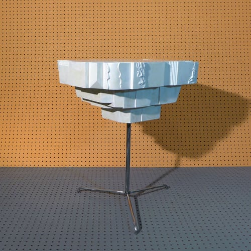 """Tables by STEFAN HEPNER / STUDIO seen at Private Residence, Brooklyn - """"Cara-Ra"""" side table"""