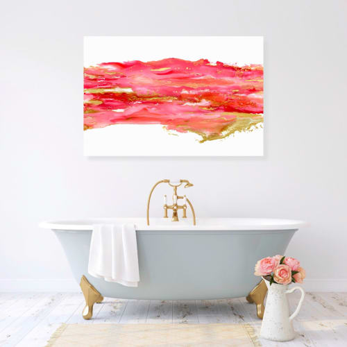 Paintings by Emily M Randolph Fine Art seen at Private Residence, Scottsdale - Coral Dream