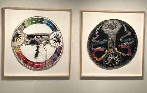 Paintings by Amber Robles-Gordon seen at American University at the Katzen Arts Center, Washington - Awakening the Matrilineal, Installation, Mixed Media on Canvas
