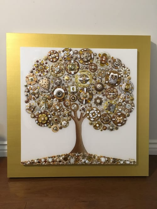 Art & Wall Decor by Cami Levin seen at Private Residence, Carlsbad - Frosted Bliss - Tree of Love