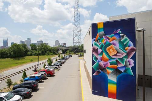 Street Murals by Nathan Brown seen at Nashville, Nashville - Top Golf mural