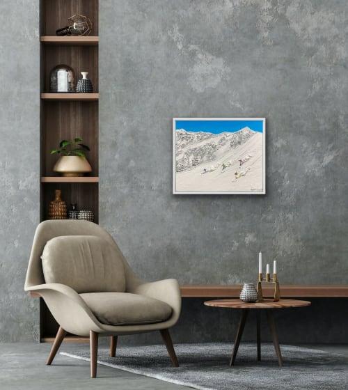 Paintings by Elizabeth Langreiter Art seen at Creator's Studio, Sydney - Blue Sky Skiing