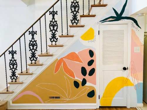Murals by Zara Fina Stasi (Good for the Bees) seen at Private Residence, Philadelphia - Indoor Mural