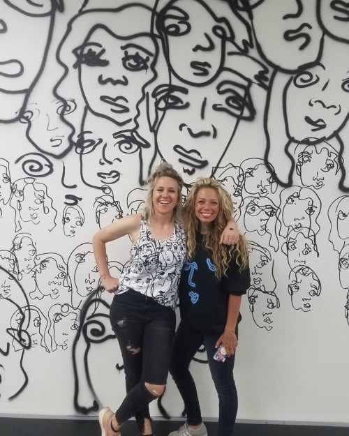 Indoor Mural   Murals by Davia King   Breakin Circles Dance Studio in Provo