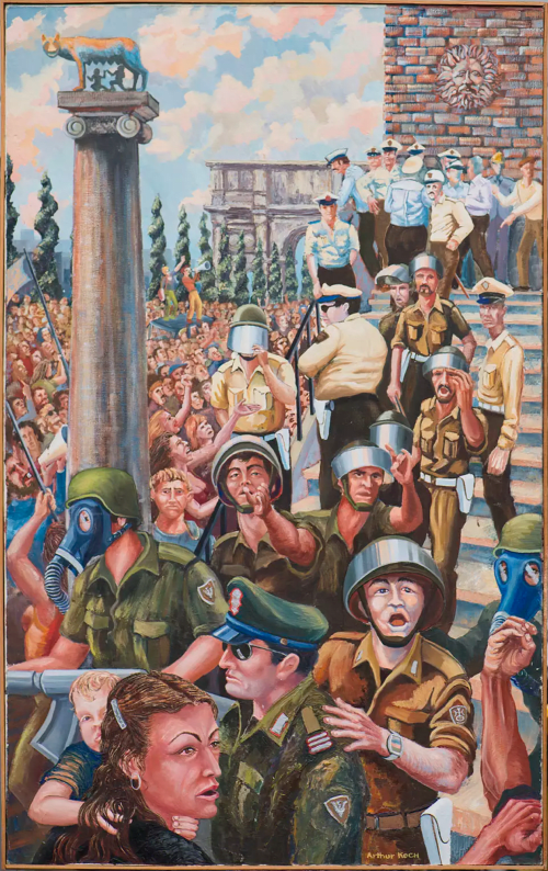 Paintings by Arthur Koch seen at Cafe Revolution 3248 22nd St, San Francisco, CA, San Francisco - Italian School of Sign Language
