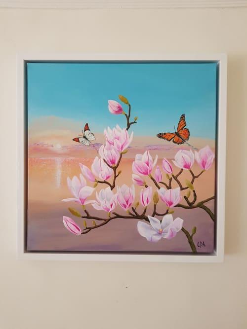 Paintings by Carolina Arbuthnot seen at Nova Fine Art, Leamington Spa - Fly With Me