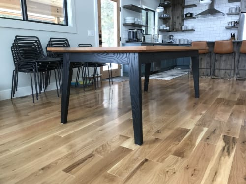 Tables by AM Wood seen at Private Residence - Plain, WA, Plain - Expanding Alder and Ash Dining Table
