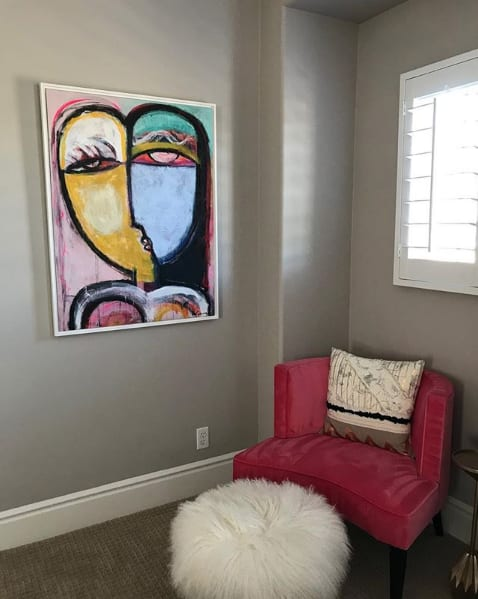 Paintings by Lesley Grainger seen at Private Residence - Collector home