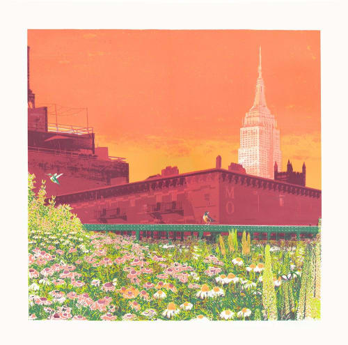 Paintings by Emma Reynolds seen at Private Residence, Brighton - Empire State of Mind