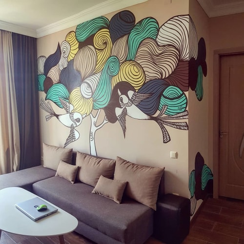 Murals by Nina Khurtsilava seen at Private Residence, Batumi - Residence Mural