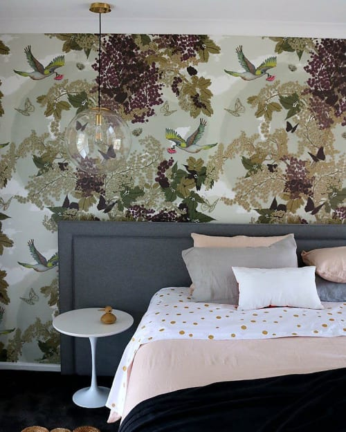 Wallpaper by Tamara Design Co seen at Private Residence, Bridgetown - Blossom