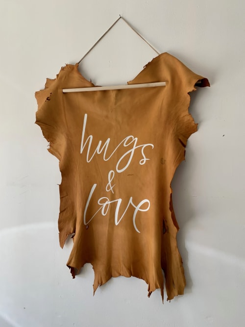 Wall Hangings by Paper Cliché seen at Private Residence, Costa Mesa - Hugs & Love