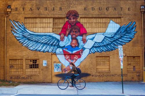 Street Murals by JOEKINGATL seen at 395 Edgewood Ave SE, Atlanta - Not A Crime Mural