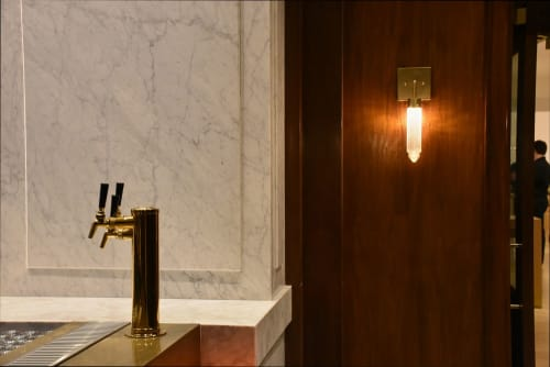 Sconces by Michelle James seen at The Adolphus Hotel, Dallas - Chrysler Glass Globe Wall Sconce