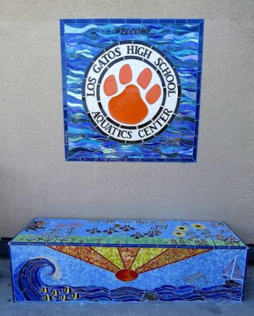 Public Mosaics by Marsha Wickham Rafter seen at Los Gatos High School, Los Gatos - Memorial Bench for Tessa Joy Davis