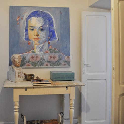 Paintings by Paulina X. Miranda seen at Private Residence, Tolfa - Los Despiertos serie (The Awakened)