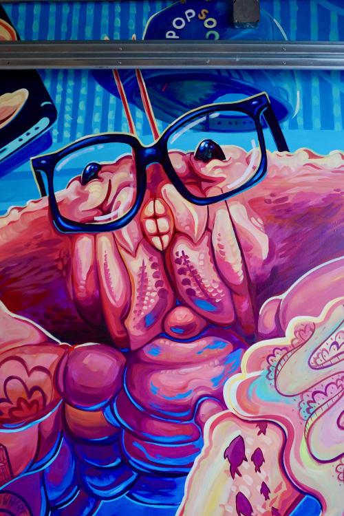 Murals by Joey Rose seen at San Francisco, San Francisco - DUNGENESS CRAB