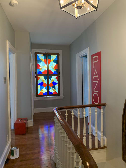 Art & Wall Decor by Annie Sinton Glass seen at Private Residence, Kennett Square - Indoor stained glass shutters