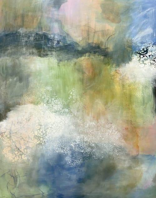 Paintings by Juanita Bellavance seen at Creator's Studio, Cumming - miles to go 2